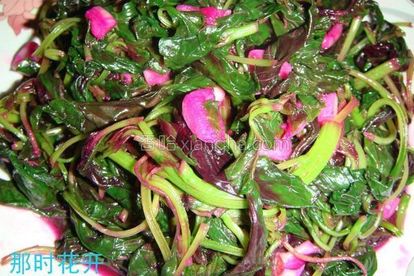 清炒红苋菜的做法