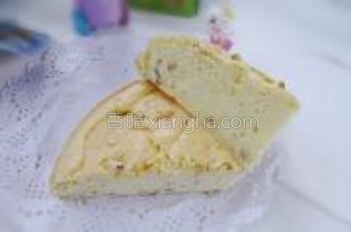 浓浓栗子的香的蛋糕就做好了。