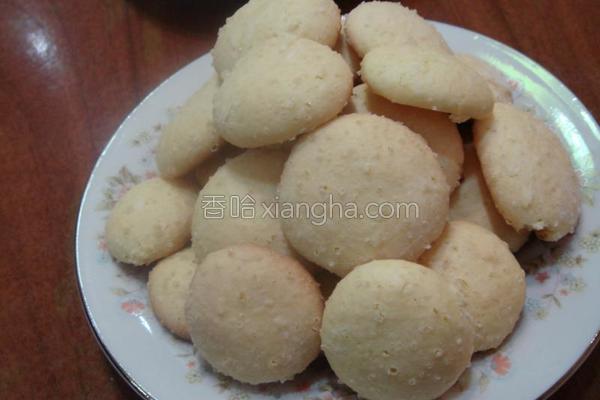 椰香小饼成品图