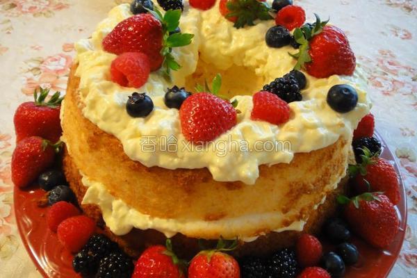 戚风水果蛋糕的做法