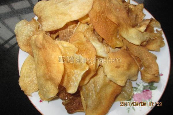 自制健康薯片的做法