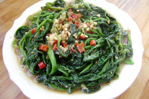 鱼香菠菜的做法