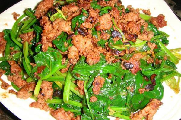 肉末菠菜的做法