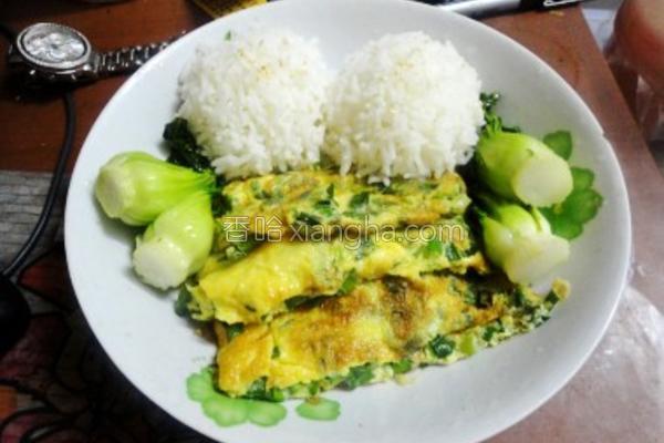 韭菜煎蛋饭的做法