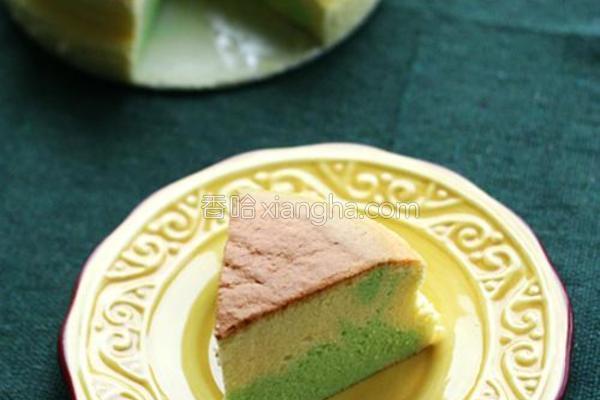 斑兰轻乳酪蛋糕的做法