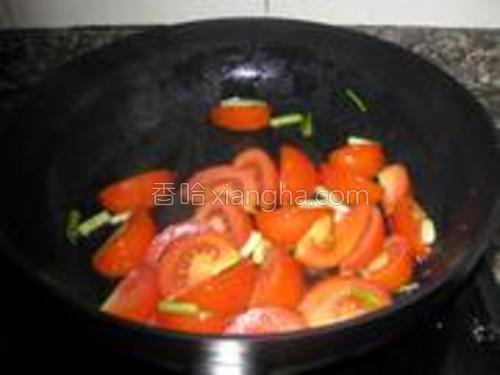 加入番茄翻炒。