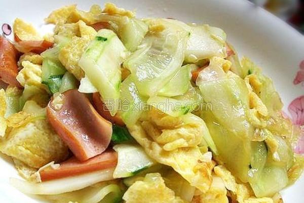 青瓜炒鸡蛋的做法