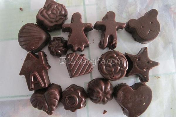 造型巧克力的做法