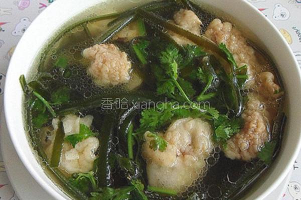 海带酥肉汤的做法