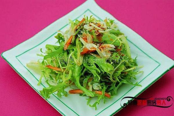 虾皮拌苦菊的做法