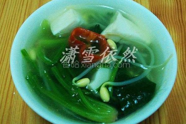 菠菜豆芽汤的做法
