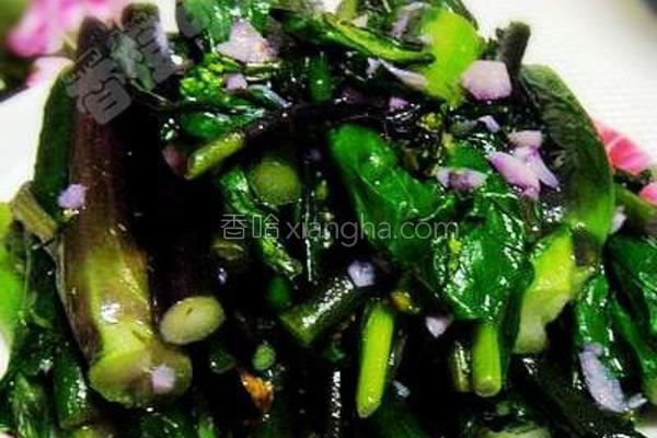 蒜泥油菜的做法