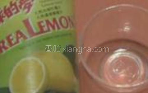 柠檬汁2滴。