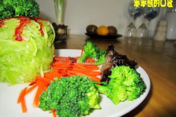 莴苣两吃成品图