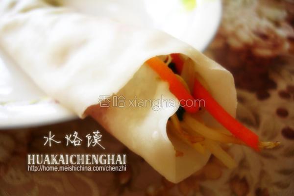 水烙馍卷菜的做法