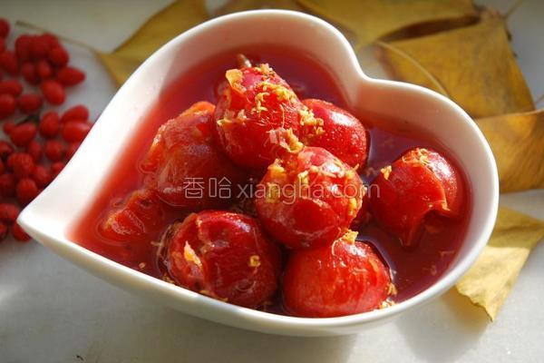 桂花炒红果的做法
