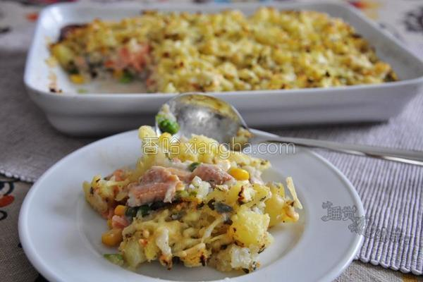 熏鱼焗土豆