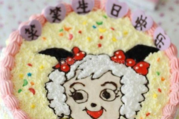 美羊羊裱花蛋糕的做法