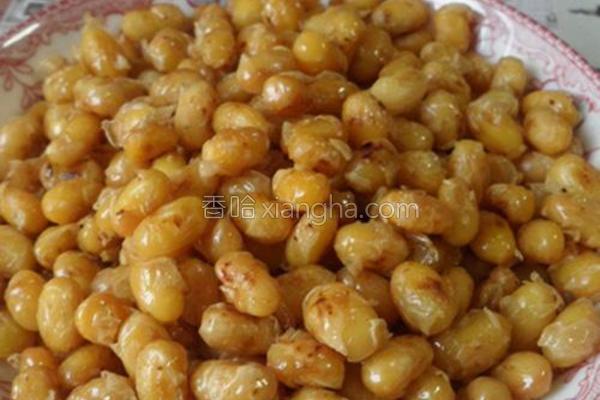 干炒五香黄豆的做法