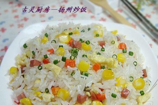 扬州炒饭成品图