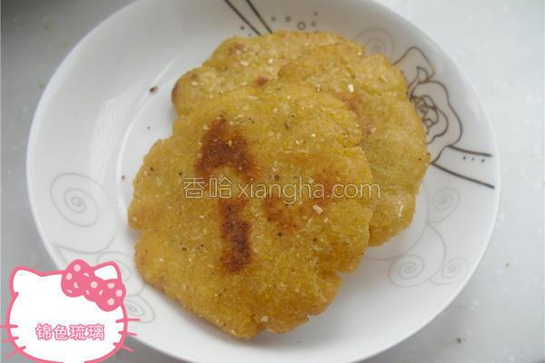 喷香玉米饼的做法