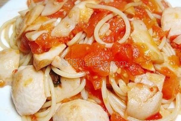 茄汁鱼丸意粉的做法