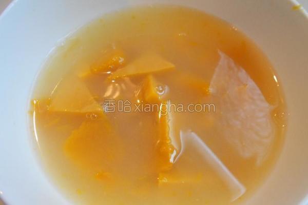 南瓜面汤成品图