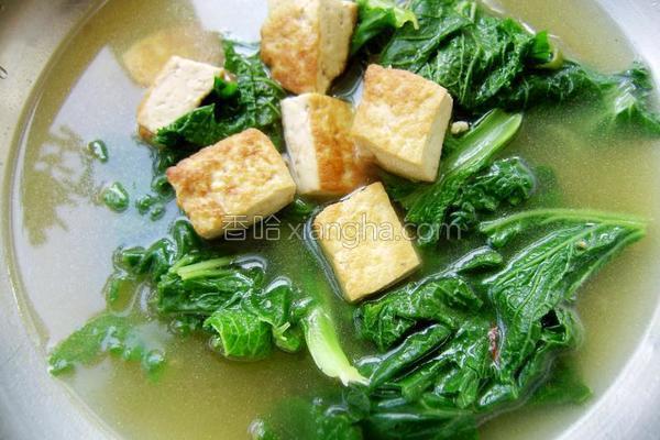 小白菜豆腐汤的做法