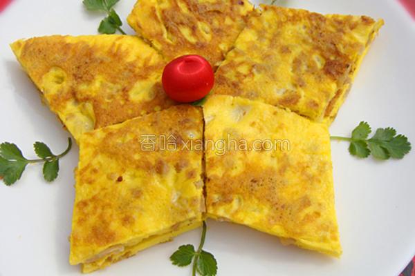 菜脯煎蛋的做法