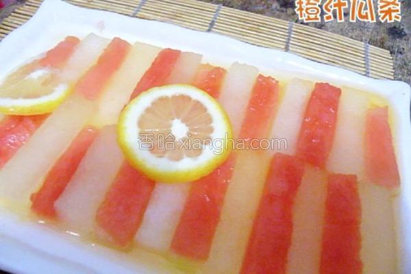 橙汁瓜条成品图