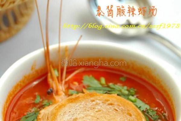 泰酱酸辣虾汤的做法