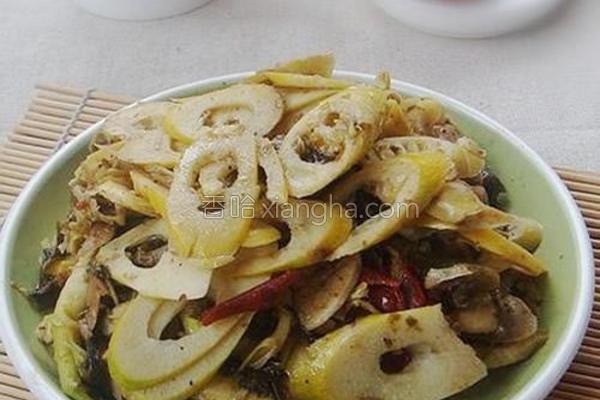 酸菜炒鲜笋的做法