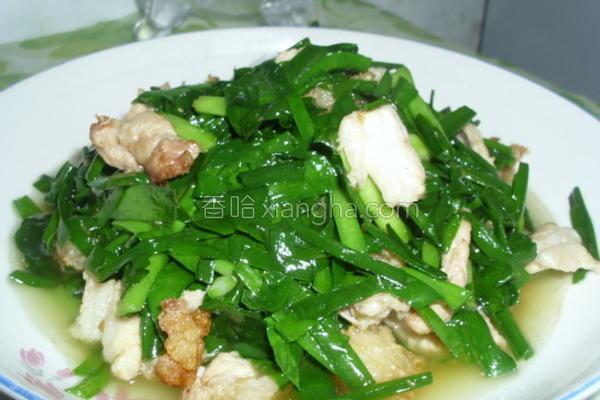 韭菜炒肉成品图