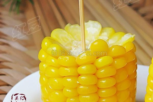奶香玉米棒的做法