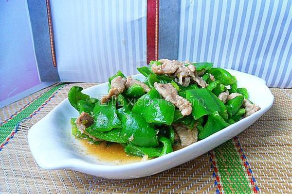 肉片炒青椒的做法