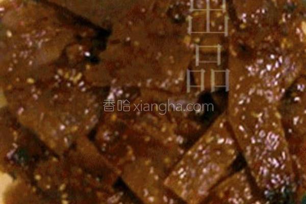 黑椒蜜汁猪肉脯的做法