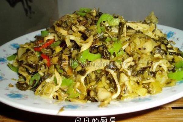 雪菜笋片的做法