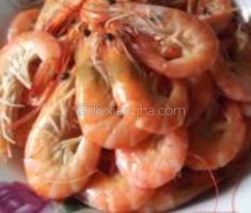 白灼海虾,不用油不用盐,连水都不用加。<br/>真正的原汁原味。