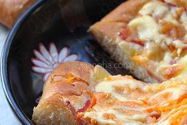 胡萝卜培根面包的做法