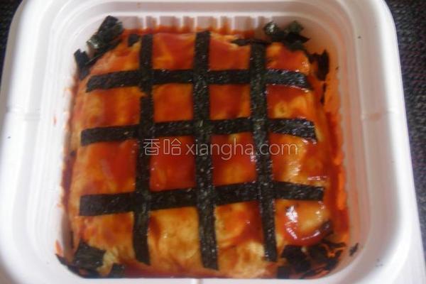 紫菜鱼茸蛋包饭的做法