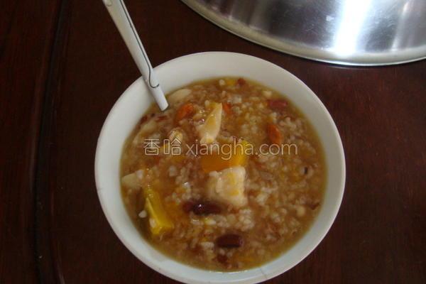 南瓜红米香粥的做法