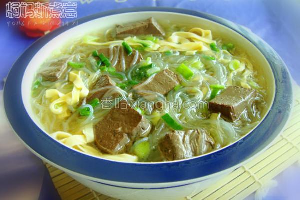 羊血粉丝豆皮汤的做法