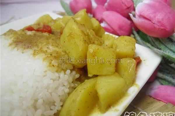 咖喱土豆饭的做法