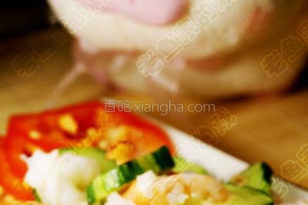 翠玉环虾球的做法