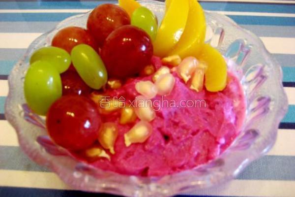 水果紫薯酸奶