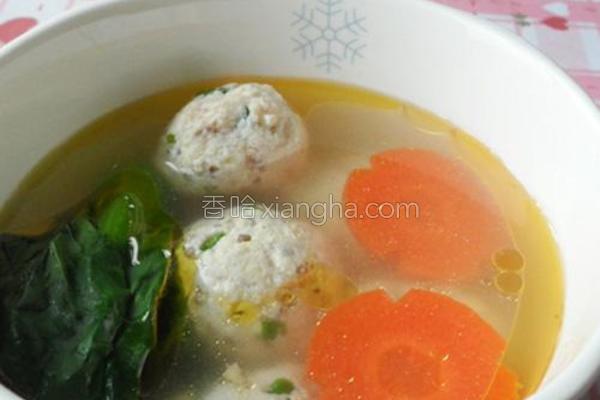鸡汤煨藜麦豆腐丸子的做法