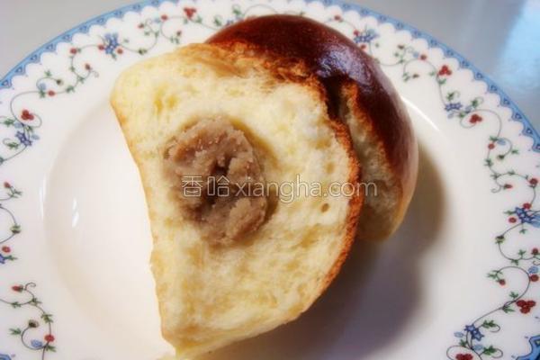牛奶栗蓉小餐包的做法