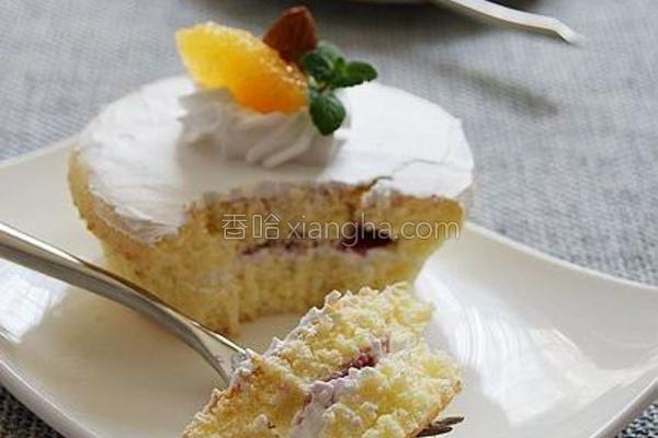 波士顿奶油蓝莓蛋糕的做法