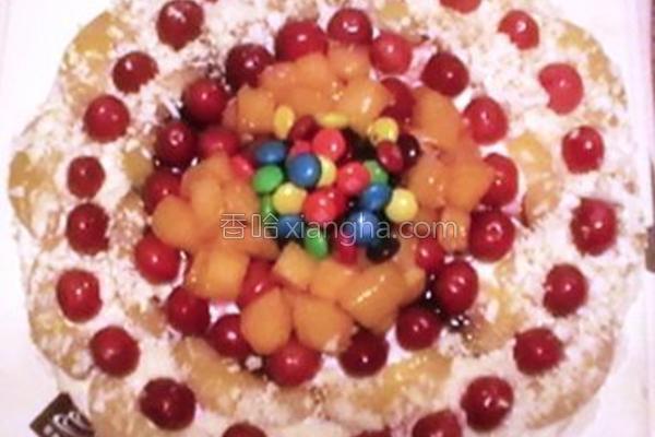 十寸鲜奶水果蛋糕的做法