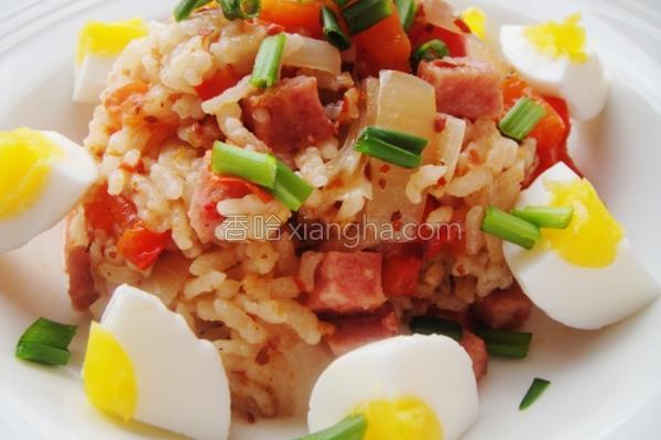 红椒圆葱焖饭的做法